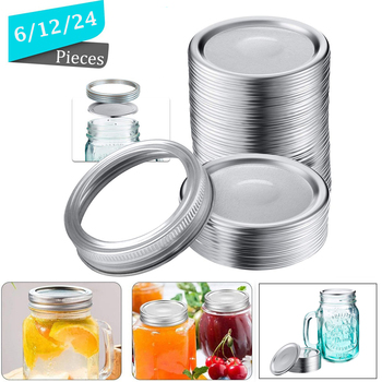 70mm Regular Mouth Mason Jar Lids Bands Whorl Leak Proof Mason Canning Jar Caps With Wide Mouth Canning Covers Sealing Ring les bratt fish canning handbook