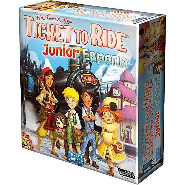 Board game Hobby World Ticket to Ride Junior Europe hobby world настольная игра ticket to ride junior европа