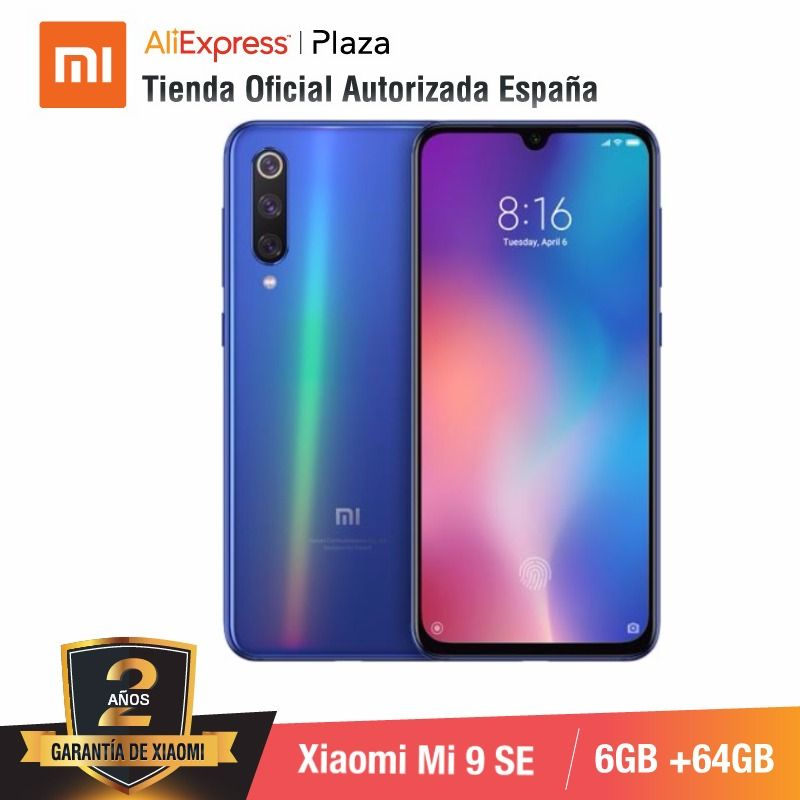 Global Version For Spain] Xiaomi Mi 9 SE (Memoria Interna De 64GB, RAM De 6GB, Triple Camara De 48 MP)