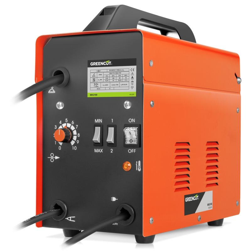 Inverter Welder GREENCUT Continuous Thread Gas Turbo Aired Out, Soldering Iron 120A Power Dimmable, Welder MIG Portable