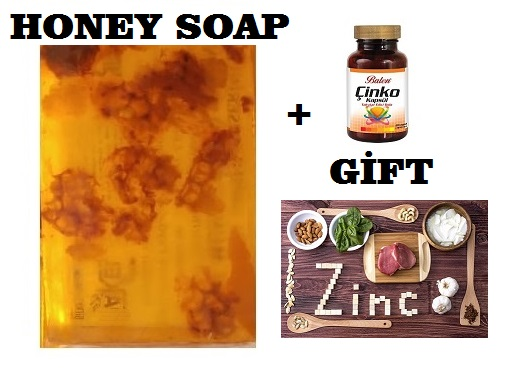 (gift Items)HANDMADE NATURAL HONEY SOAP 100gr+Gift Food Supplement Health Zinc Regulating Immune Function