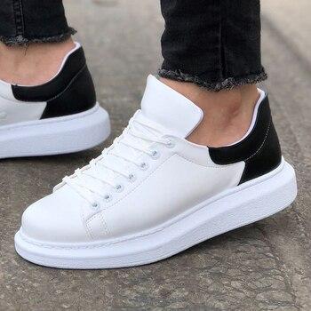 цена на Chekich CH256 IT Men 'S Shoes WHITE/BLACK. 100% Vegan 100% Cotton Shoe sneaker air van chaussure loafer trainer uomo money fly