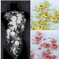 La Belleza nouvelle belle rose fleurs grande pièce à La main en cristal strass applique patch accessoires par pièce