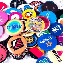 US $0.5 |No MOQ Custom Button Badges Pin back buttons supplies for bag pack DIY Customize Brooches for promotional gift badges-in Badge Holder & Accessories from Office & School Supplies on AliExpress - 11.11_Double 11_Singles' Day