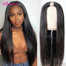 Prosto U część peruka ludzkie włosy z klipsami tanie Upart Bob ludzkie włosy pół peruki dla czarnych kobiet pełna maszyna wykonana peruka Remy włosy