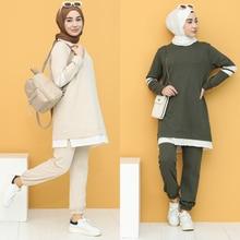Garnish Tracksuit 2 Piece Muslim headscarf turkey Dubai Women's Fashion Trends arabia 100% Made in Turkey