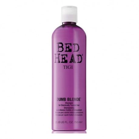 TIGI BED HEAD DUMB BLONDE CHAMPU FOR CHEMICALY TREATED HAIR 750ML