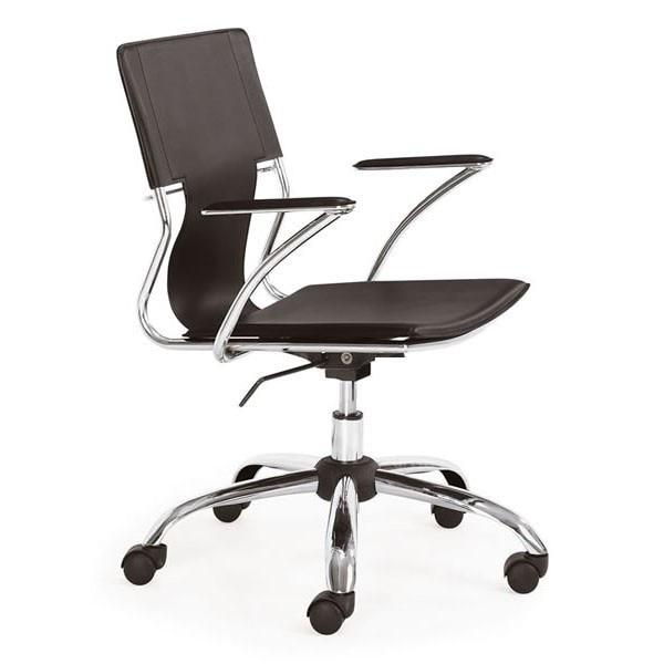 Office Armchair BERLIN, Rotating, Plating, Nappel Black