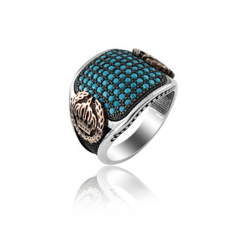 925 Silver Kingdom Ring Turquoise Ring for Men