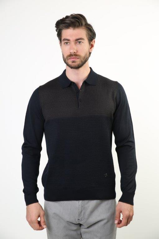 Sweater Polo Collar Men 'S Wool Sweater 3891-1
