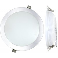 DownLight LED Empotrar Redondo 25W  3000K PLATA LED empotrados     -