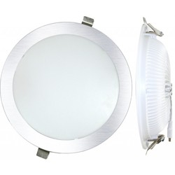 Downlight LED Einbau Runde 25 W 3000 K SILBER