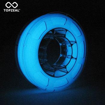 TOPZEAL drukarka 3D PLA Luminous Filament świecące w ciemności 1 75mm 1KG PLA Filament drukarka 3D PLA dokładność wymiarowa + - 0 05mm tanie i dobre opinie NORTHCUBE CN (pochodzenie) solid 343 metry PLA-Luminous-Series Luminous Blue (Glowing in the Dark) 343m 1 25±0 05g cm3