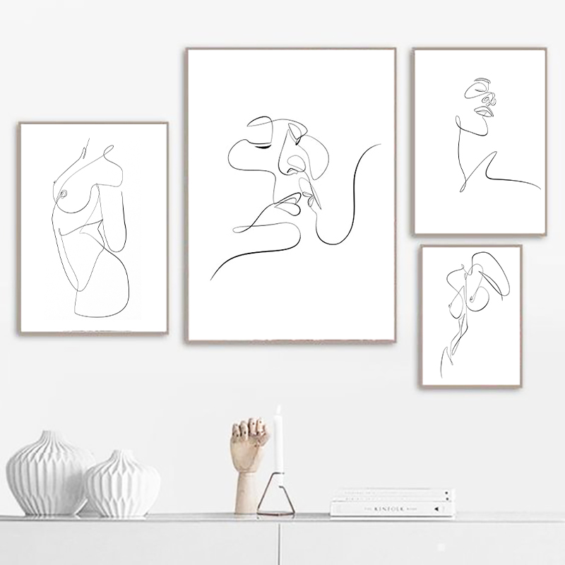 Facials Quotes Canvas Print Spa Beauty Decor Esthetician Gift Woman Face Sketch One Line Drawing Art Painting Scandinavian Decor Leather Bag