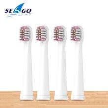 SEAGO 4pcs/lot Original Replacement Brush Heads for EK8/EK9 Electric Toothbrush Head Replaceable Nozzle for EK10 Teeth Brush