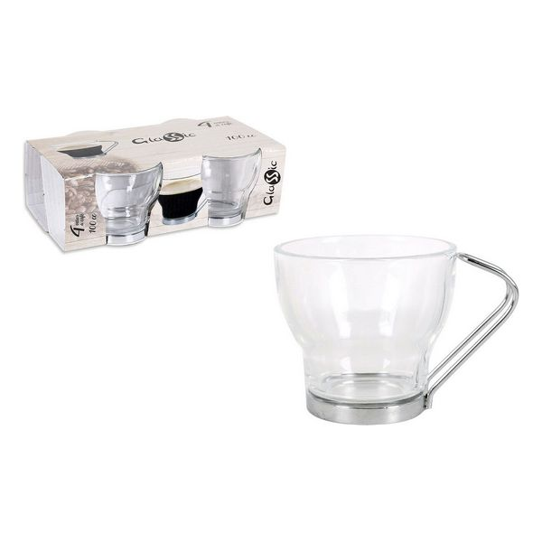 Piece Coffee Cup Set Glassic 100 Cc Crystal (4 Pcs)