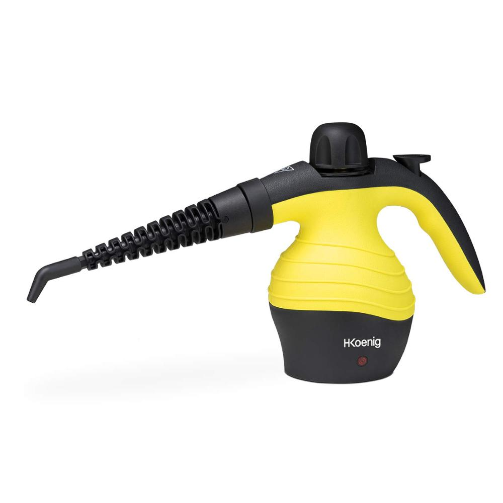 H.Koenig NV60 Purpose Cleaner A Steam Compact, Vaporeta Cleaning Home 1000W, 4,2 Bars, Capacity 350ml, Vaporeta Hand's Small
