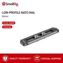 """SmallRig düşük profilli NATO ray 90mm uzun 6mm kalın Nato raylı 1/4 """" 20 montaj vidalar 2484"""