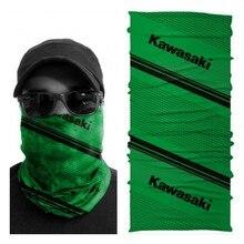 Kawasaki Green Scarf Motorcycle Bandana Buff Face Mask Neckwarmer Gaiter Snood for Men Women Bike Rider Multiscarf