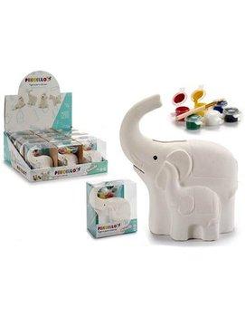 Hucha Dibujo Elefante – Cerámica
