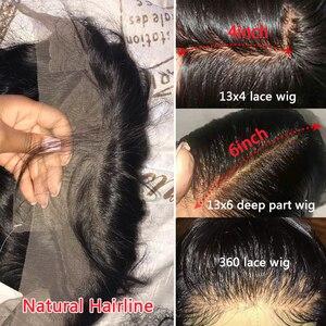 Image 4 - Парик женский из натуральных волос, 30/32 дюйма, 360 HD