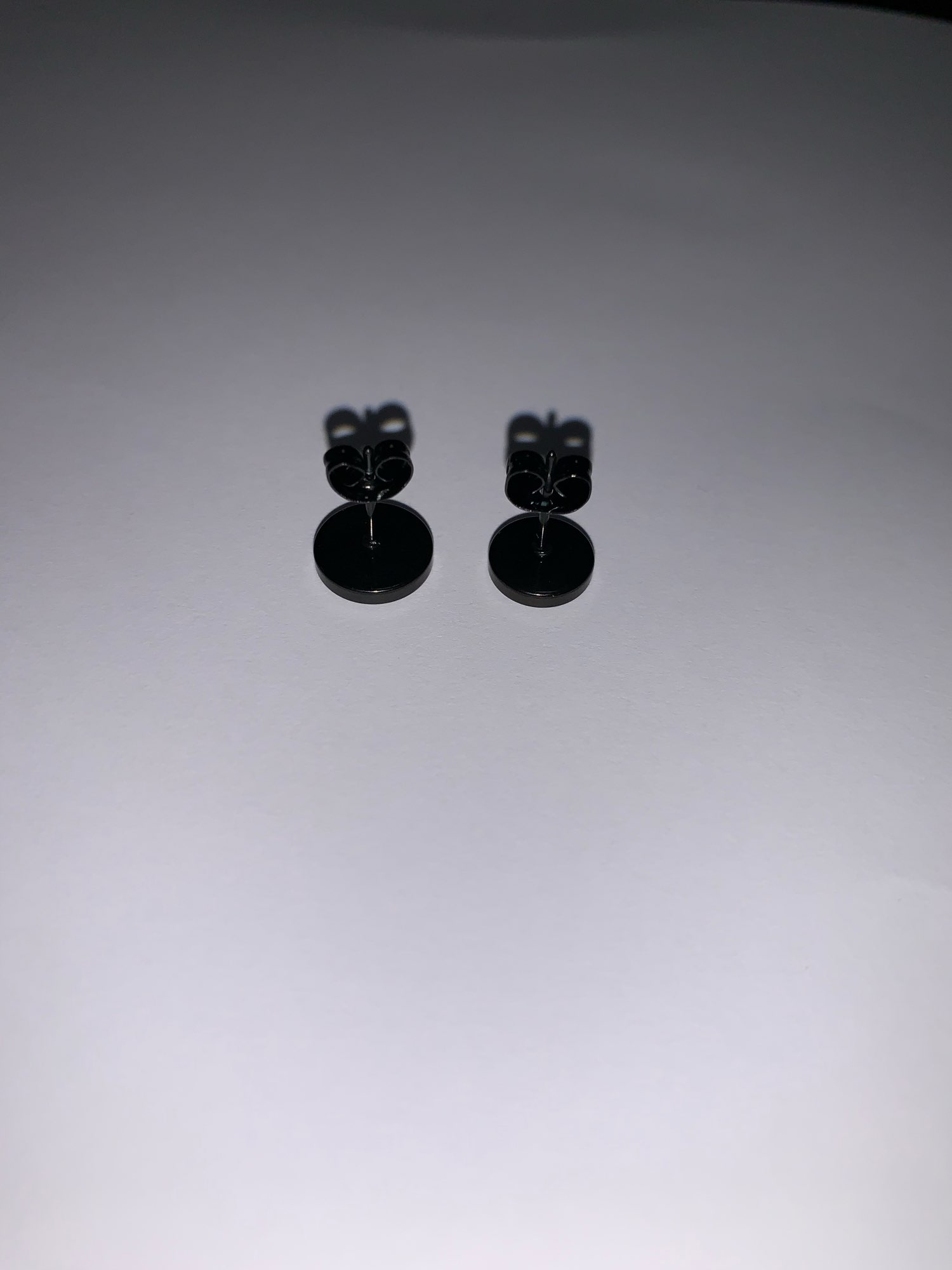 Punk Black Multiple Styles Stainless/Titanium Earrings photo review