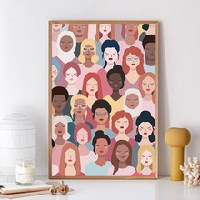 Affiche murale moderne pour fille avec impression d'art de puissance, décor mural