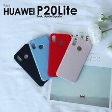Funda de Silicona liquida para Movil Huawei P20 Lite Funda Protector Trasera Suave con Alta Caliad para Smartphone