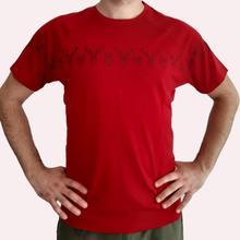 Мужской из шерсти мериноса Футболка Мужской Топ вязаный короткий рукав термический базовый слой Джерси тройник красного цвета