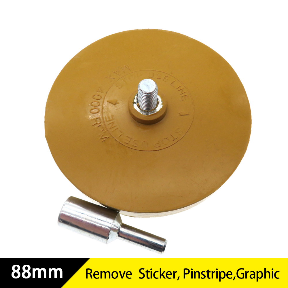 88mm Universal Rubber Eraser Wheel For Remove Car Glue Adhesive Sticker Pinstripe Decal Graphic Auto Repair Paint Tool