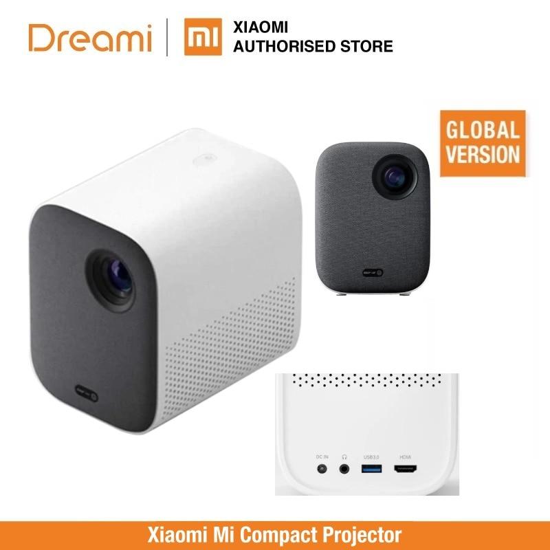 Mi Smart Compact Projector Mi Smart Kompakte Projektor (tragbare 1920*1080 Unterstützung 4K Video WIFI Proyector LED Beamer TV Full HD für Home Cinema Büro)