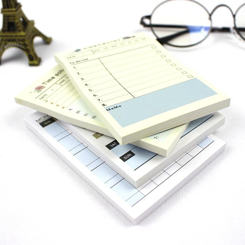 1PCS Cute Blue Bird Weekly Monthly Work Planner Sticky Note Agenda Time Schedule Memo Gift For Kid Creative Wholesale