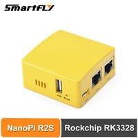 Smartfly FriendlyARM NanoPi R2S OpenWrt System RK3328 Mini Router Dual Gigabit Port 1GB Große Speicher-in Demo-Board aus Computer und Büro bei