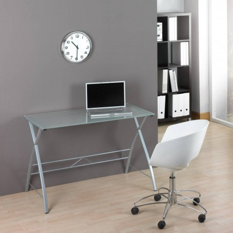 Computer Table Glass And Steel