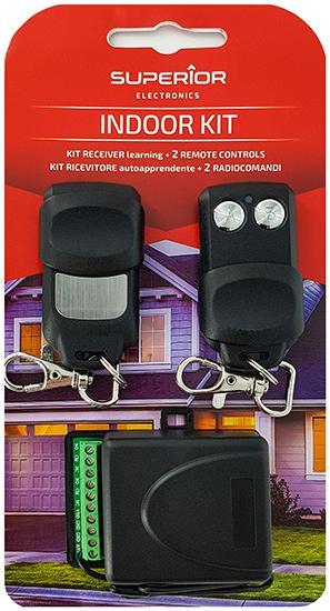 ECU Kit + 2 Controls To To Garage 433,92 MHz 2 Channels Indoorkit