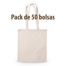 Cotton fabric bag, biodegradable, reusable, long, tough handles. Pack 50 PCs, shopping bag, tote bag crafts