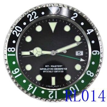 RLX GMT-MASTER II wall clock modern design high quality luxury brand stainless steel luminous face calendars FT-RLX-GMT001