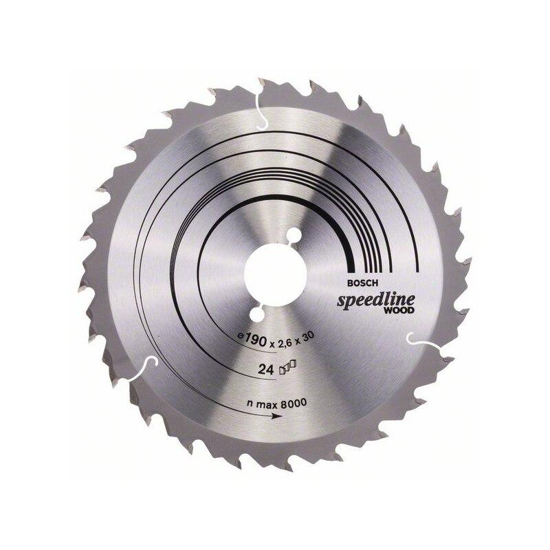 BOSCH-circular Saw Blade Speedline Wood 190x30x2,6mm 24