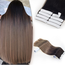 Tape in Remy Human Hair Extensions Good Quality Natural Human Hair 100g Include 40 Pieces No Shedding Remy Human Hair Tape in