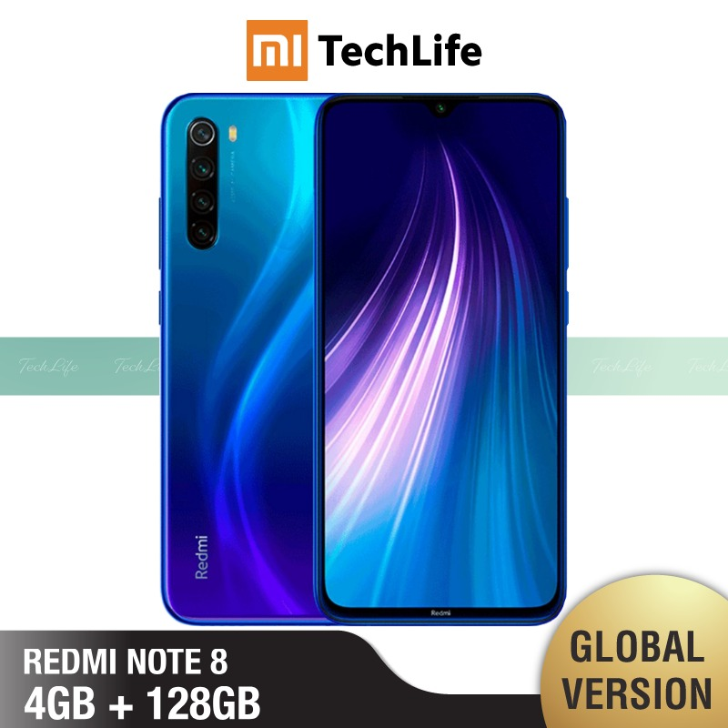 Global Version Xiaomi Redmi Note 8 128GB ROM 4GB RAM (Brand New / Sealed) Note 8, Note8