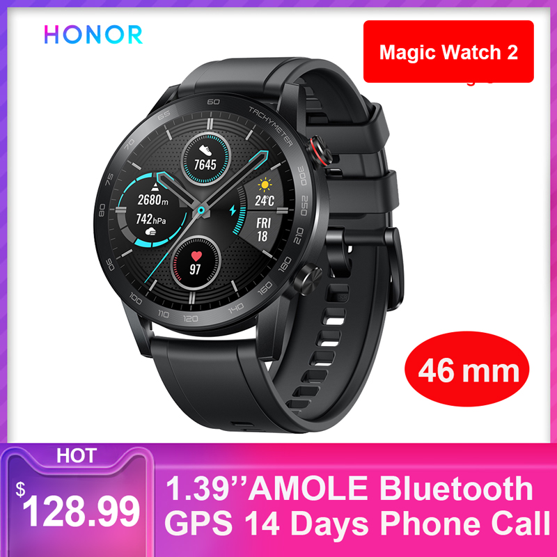 9706.18руб. 30% СКИДКА|Honor Magic Watch 2 (MNS B19) 1,39 дюймов AMOLE Bluetooth 5,1 gps 4 Гб rom + 32 МБ ram 14 дней телефонный звонок частота сердечных сокращений для Android iOS|Смарт-часы| |  - AliExpress