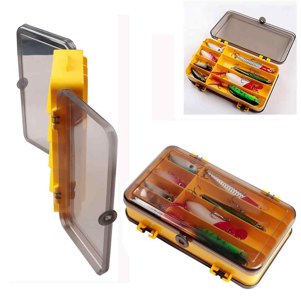 Portable Double Side Fishing Lure Box Artificial Bait Hook Case Organizer Lure Fishing Tackle Tool Equipment Accessories