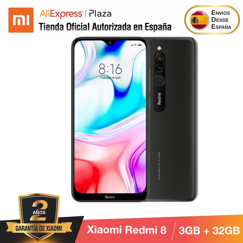 Xiaomi Redmi 8 (32GB ROM con 3GB RAM, Cámara de 12MP, Android, Nuevo, Móvil) [Teléfono Móvil Versi|Cellphones| - AliExpress