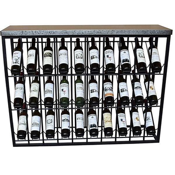 Bottle Rack Iron (120 X 34 X 94 Cm)