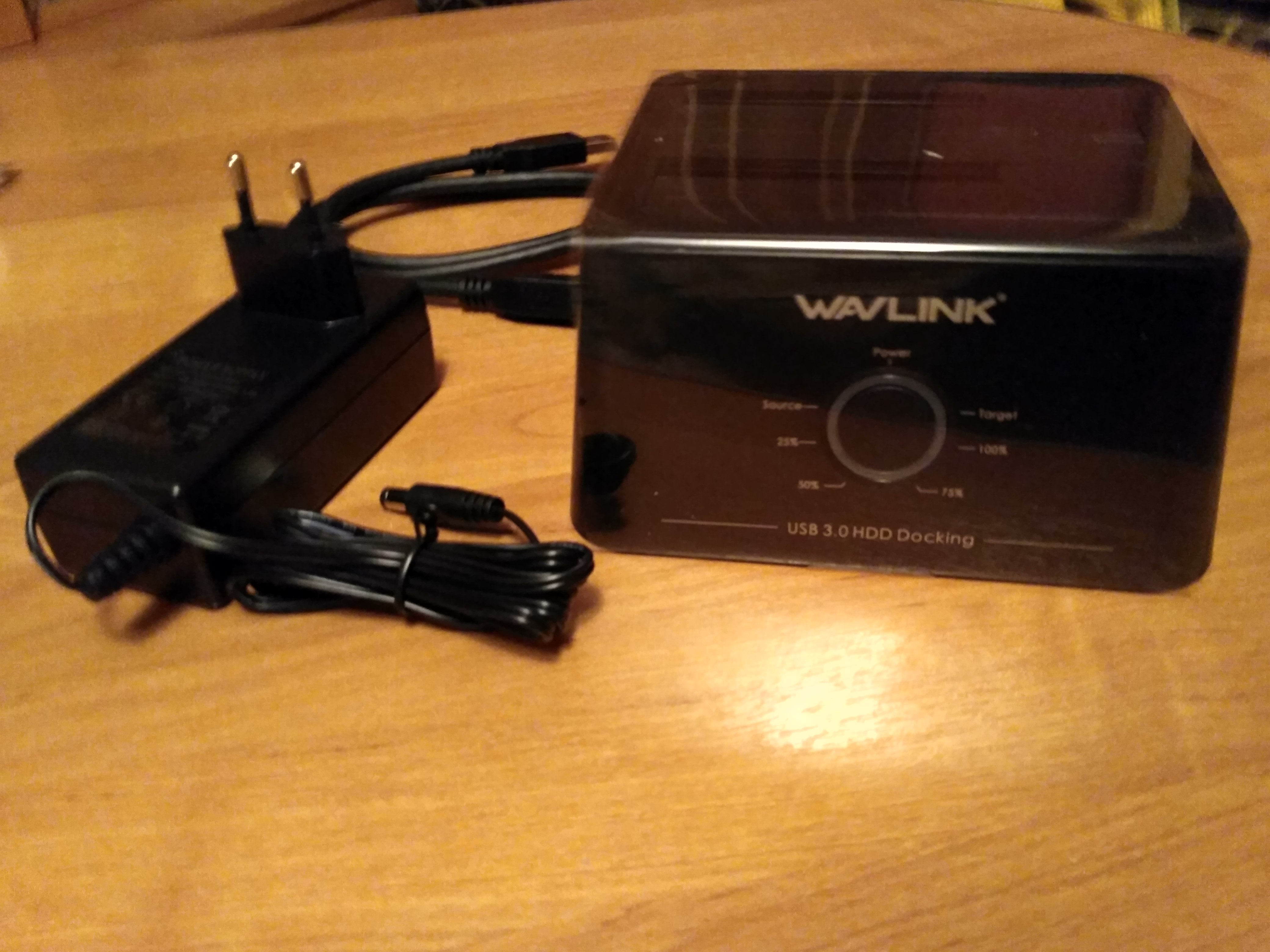 Wavlink Dual Bay SATA to USB3.0 External Hard Drive Docking Station for 2.5/3.5inch HDD/SSD Offline Clone/Backup/UASP Functions reviews №2 38713