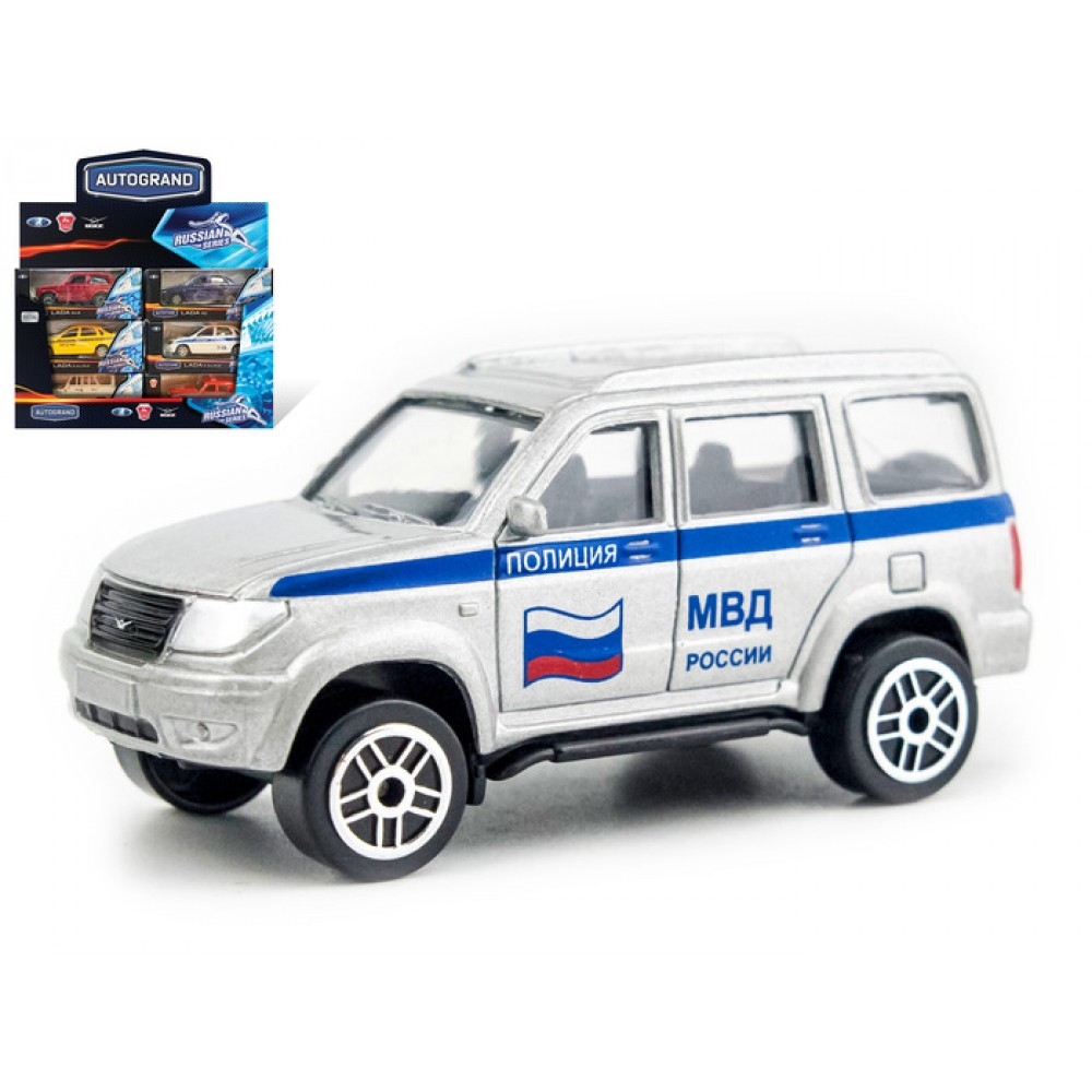 Machine Autogrand UAZ Patriot Police 60 In The Display Of 18 PCs.