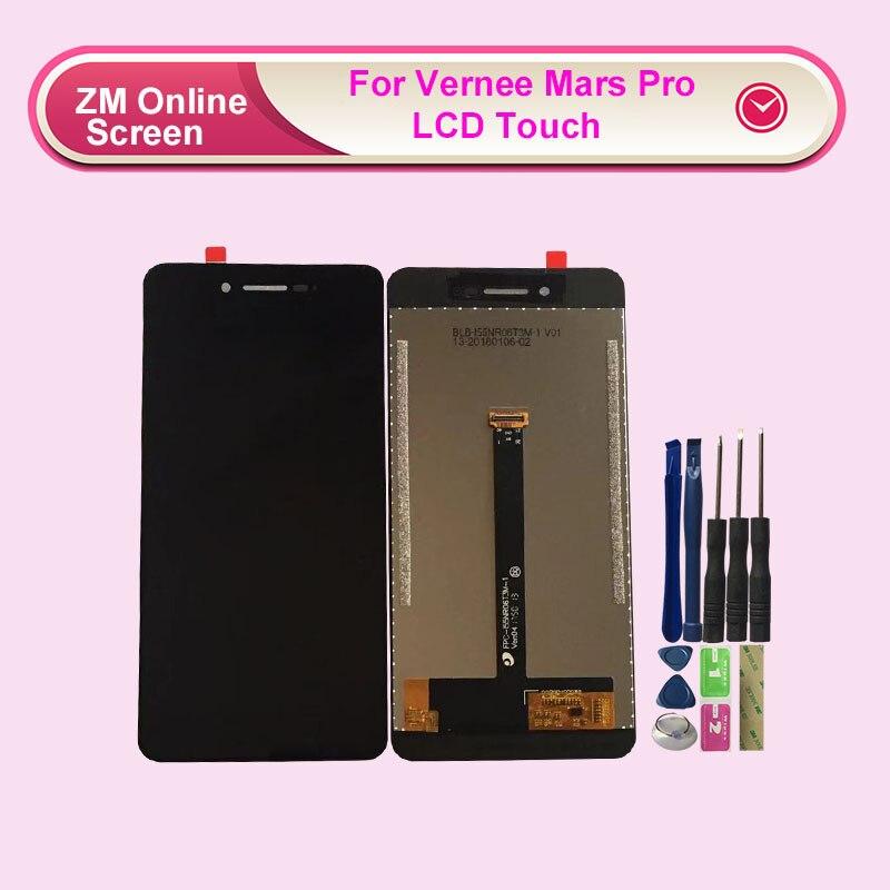 RYKKZ Vernee Mars Pro Display LCD + Touch Screen Digitador Assembléia Substituição Display LCD Do Painel de Vidro Para Vernee Mars Pro