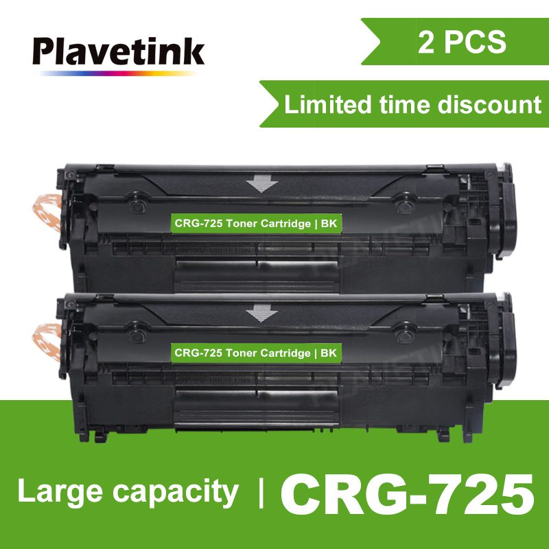 Plavetink 2pcs CRG 725 Black Toner Cartridge for <font><b>Canon</b></font> CRG725 <font><b>LBP6000</b></font> LBP6018WL LBP6030w MF3010 Laser Printer Cartridges image