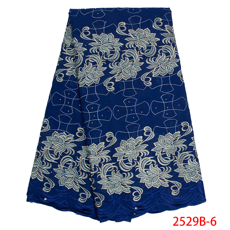 New Swiss Voile Lace In Switzerland Latest African Laces 2019  Hot Sale Swiss Lace Fabric With Stones For Women KS2529B-6