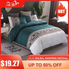Juegos de cama sencillos de lujo de tamaño King, ropa de cama con estampado Floral de Jacquard, juego de funda de edredón de lino, fundas de edredón, ropa de cama (sin sábana)